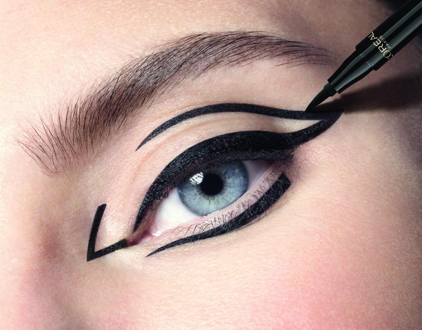 стрелки на глазах как рисовать картинки